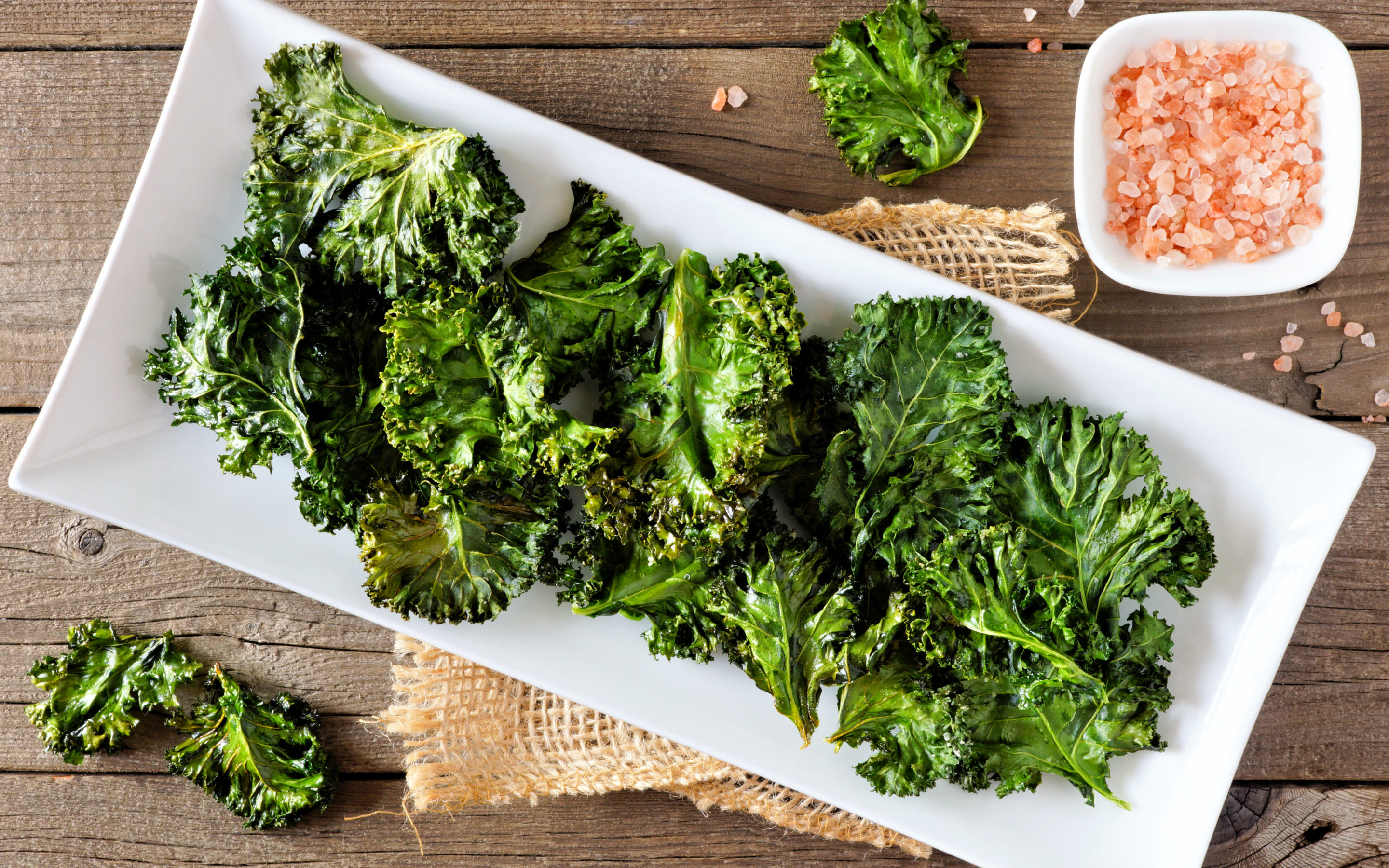 Salt & Pepper Kale Chips