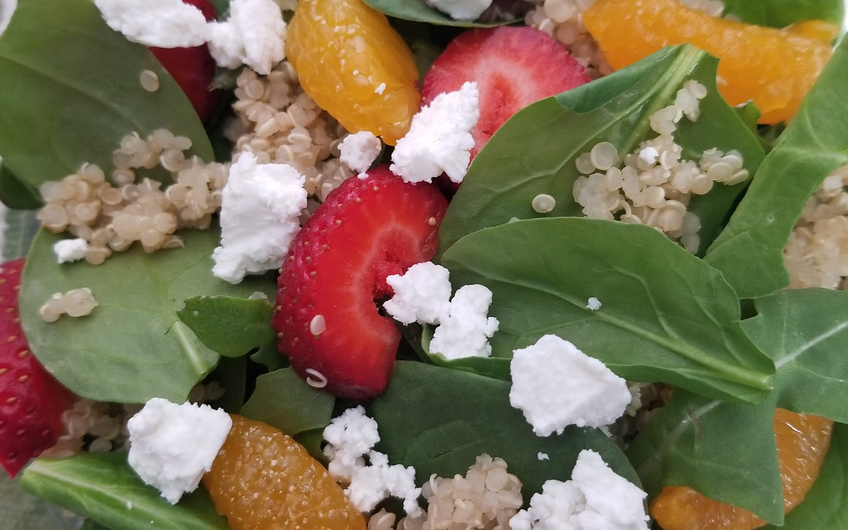 Mandarin Strawberry Quinoa Salad