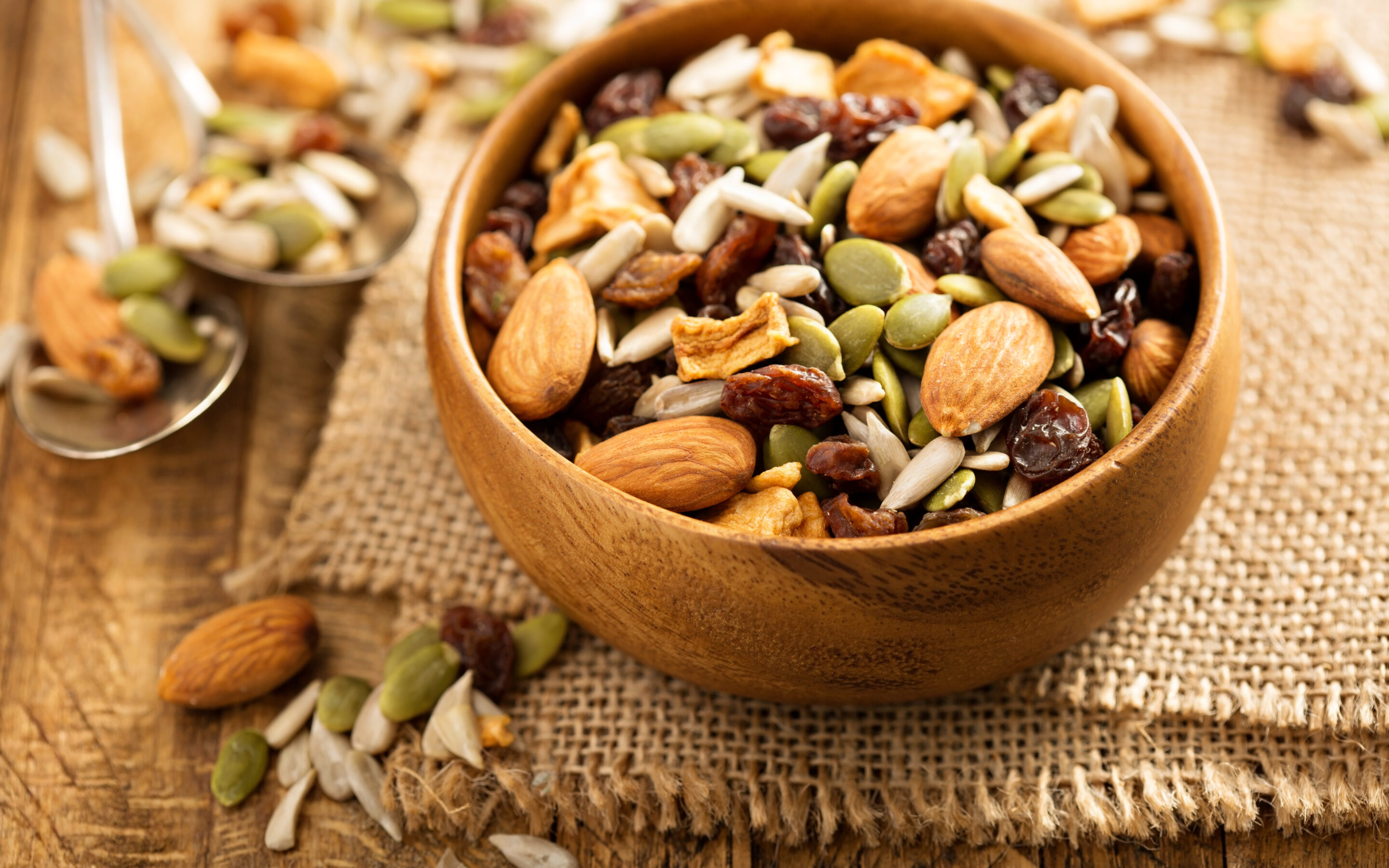 Bowl of Healthy Homemade Trail Mix