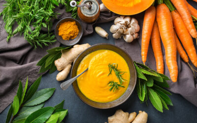 Vegan Carrot Soup with Coconut Milk