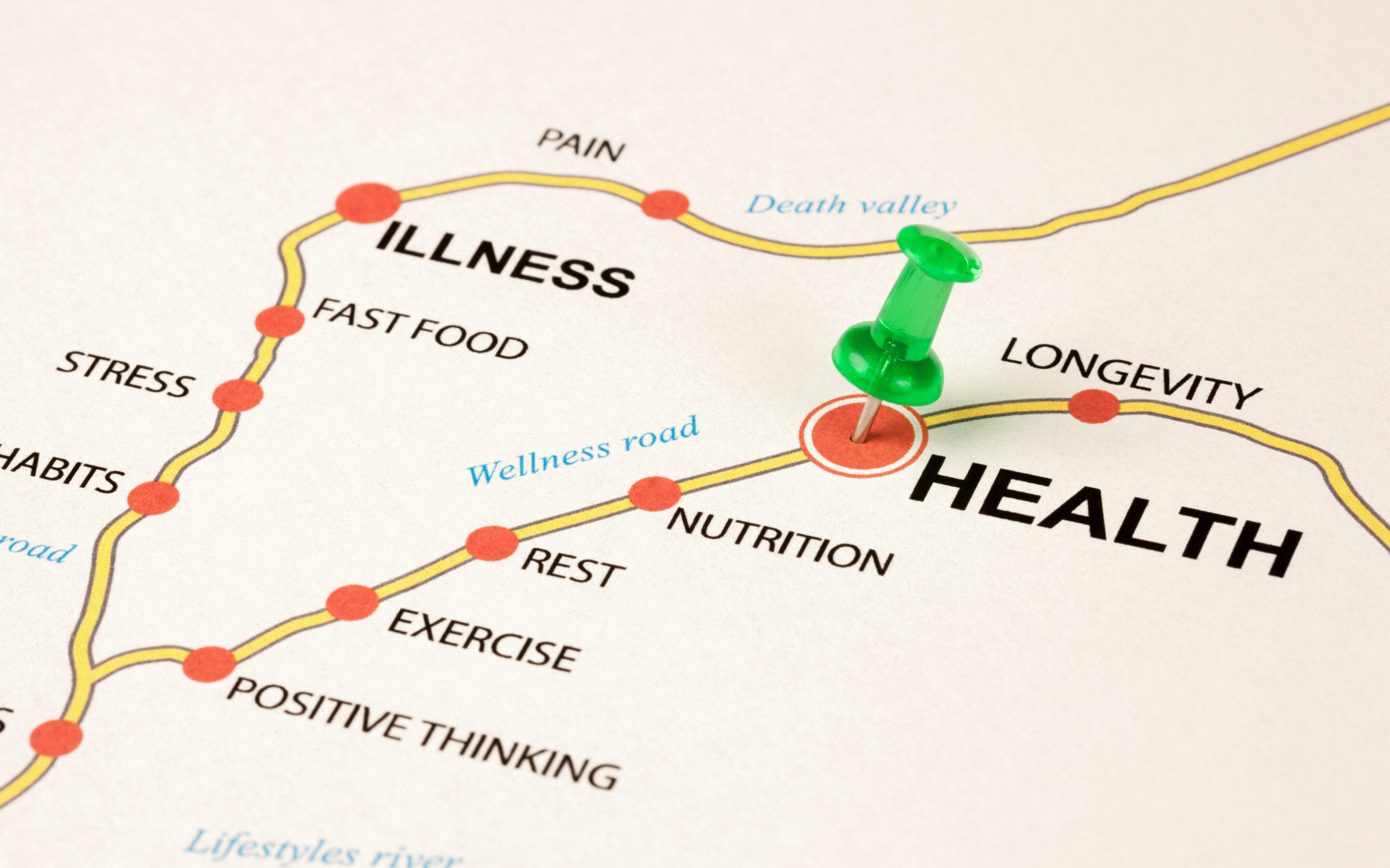 Map indicating ways to improve health